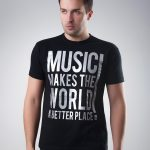 Koszulka Music Makes The World Black T-shirt