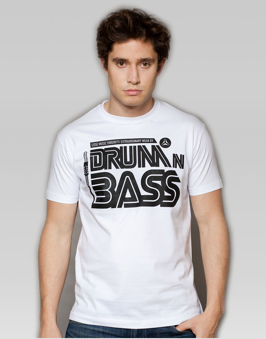Drum and Bass White T-shirt