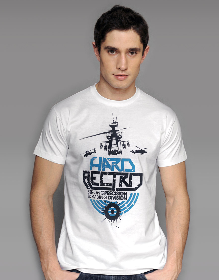 Hard electro white T-shirt