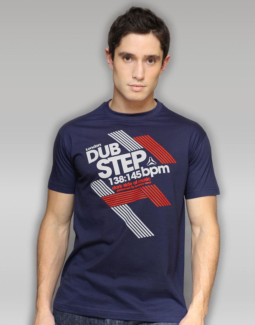 Dubstep navy T-shirt
