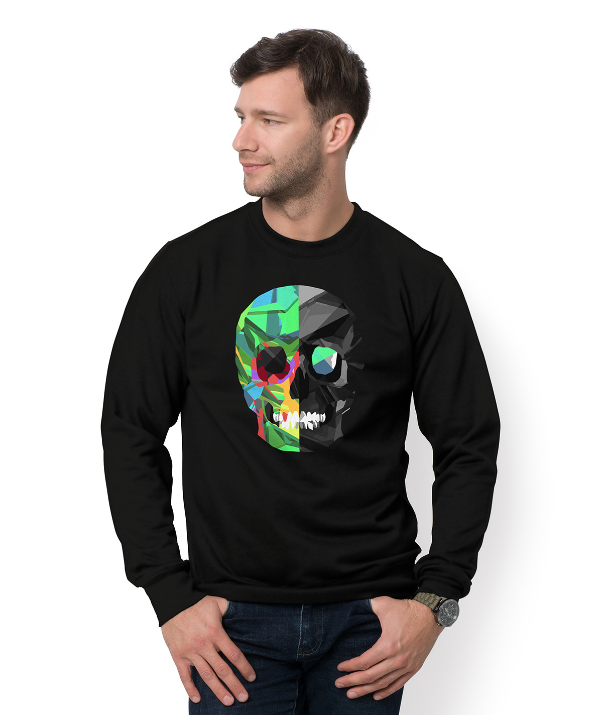 Bluza Two-color skull