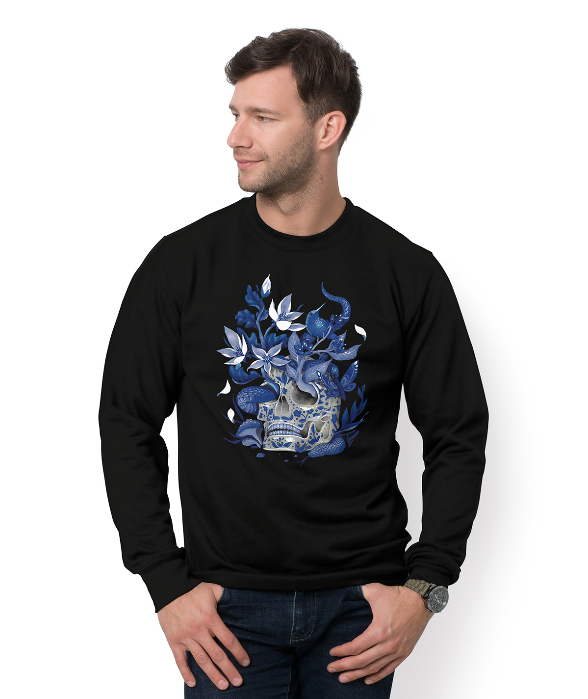 Bluza Blue Skeleton