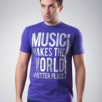 Koszulka Music Makes The World Purple T-shirt