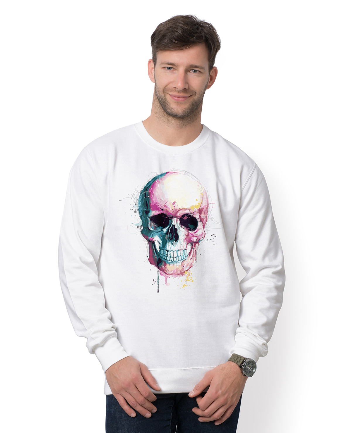 Bluza Watercolor skull