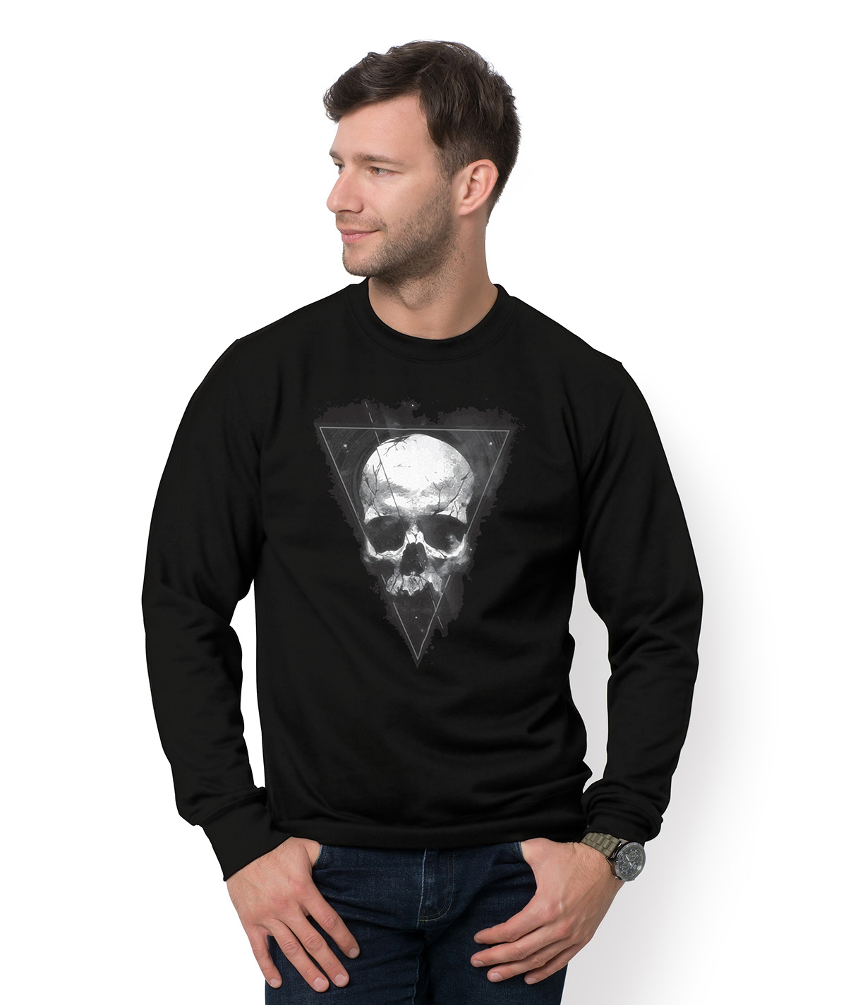 Bluza Skull in triangle