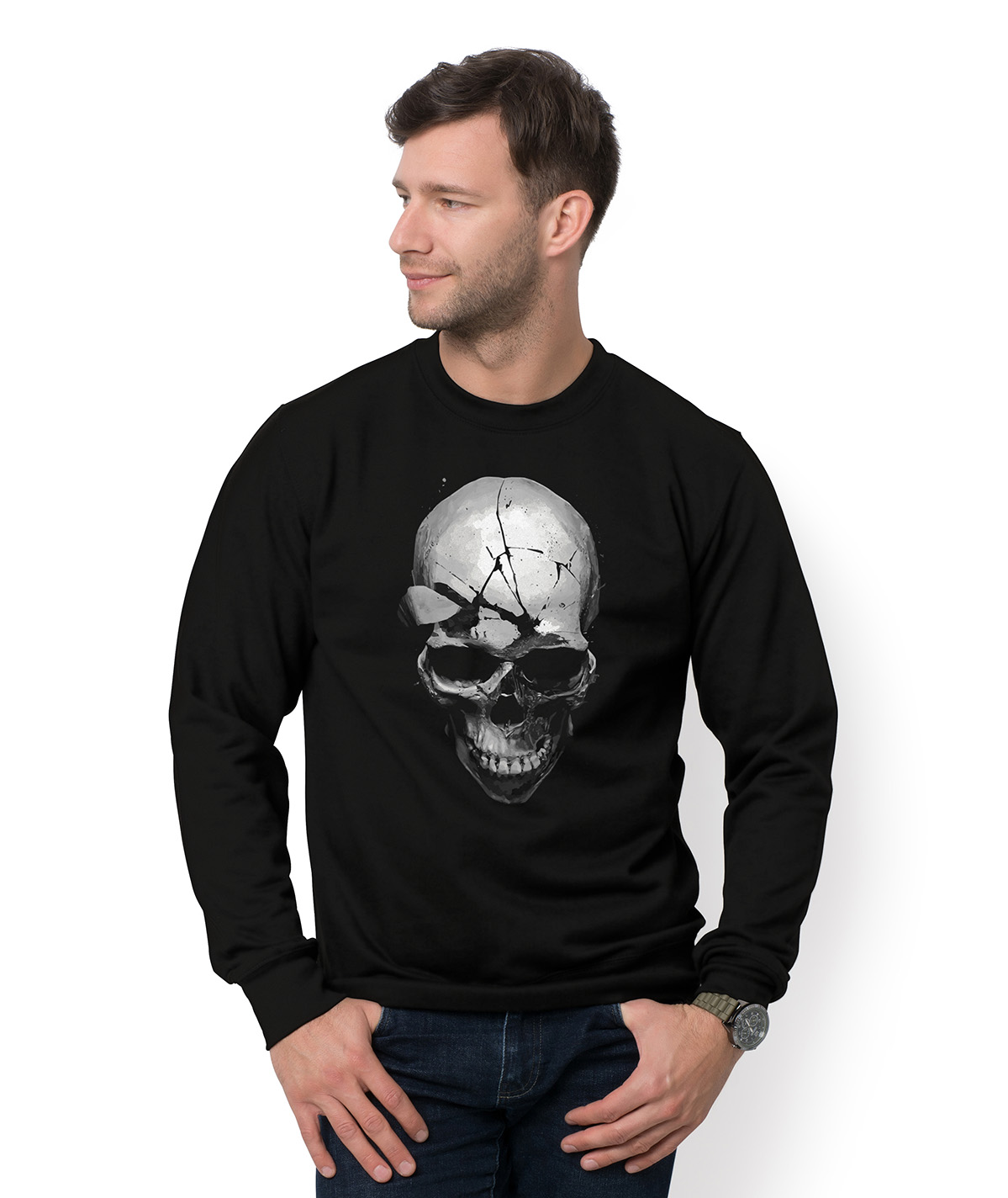 Bluza Cracked skull