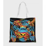 Torba full print Tiger Colorfully 2